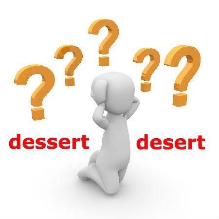 dessertとdesertの違いとは?