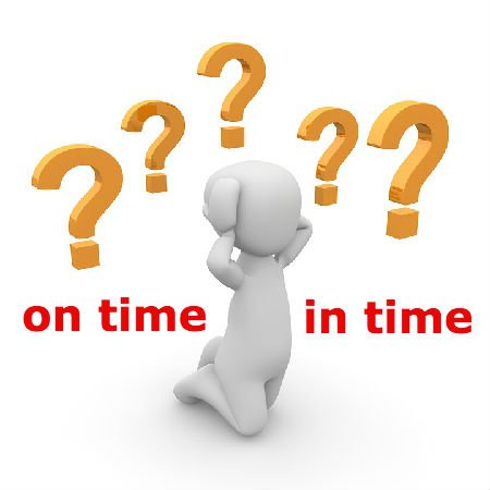 on timeとin timeの違いとは?