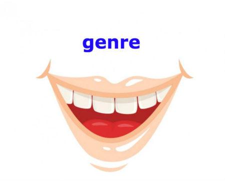 genreの発音に注意しましょう!