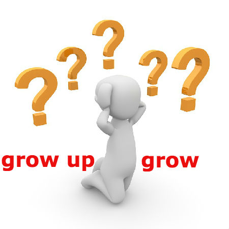 grow upとgrowの違いとは?
